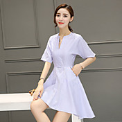 2017 resorte y verano nueva sección larga coreana de pequeño vestido rayado fresco cintura delgada una palabra falda hembra 998
