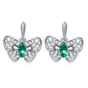 Stangøreringe Krystal Mode Yndig Personaliseret Euro-Amerikansk luksus smykker Krystal Platin Belagt Legering Sommerfugl Som Afbildet
