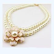 女性 チョーカー パールネックレス 真珠 人造真珠 合金 ファッション ジュエリー 用途 結婚式 パーティー 日常 カジュアル
