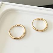 フープピアス ファッション 合金 円形 シルバー ゴールデン ジュエリー のために 日常 カジュアル 1ペア