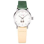 Mujer Reloj de Vestir Reloj de Moda Reloj de Pulsera Reloj Casual Japonés Cuarzo Japonés Resistente al Agua Cuero Auténtico BandaEncanto