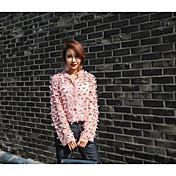 レディース カジュアル/普段着 シャツ,キュート シャツカラー ソリッド その他 長袖