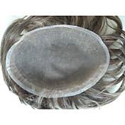 8x10 cabello remy indio peluches suizos de encaje para los hombres