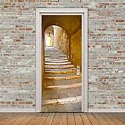 Arquitectura Pegatinas de pared Calcomanías 3D para Pared Calcomanías Decorativas de Pared,Vinilo Material Decoración hogareñaVinilos