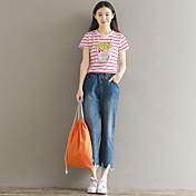 レディース シンプル ストリートファッション ミッドライズ ストレート ジーンズ パンツ ゼブラプリント
