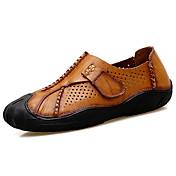 Hombre Zapatos Cuero de Napa Verano Confort Oxfords Paseo Para Negro Marrón