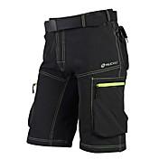 Nuckily Shorts de Ciclismo Hombres Bicicleta CortadosSecado rápido Diseño Anatómico Cremallera impermeable Listo para vestir Transpirable