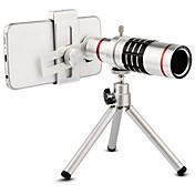 高品質18倍ズーム光学望遠鏡望遠レンズキット携帯電話のカメラレンズ三脚iphone 6 7 samsung s7 xiaomi mi6