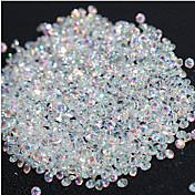 720ks mikro diamant diy nehty křišťálové krystalové ploché zpět bez opravy rhinestones samolepky potřeba lepidlo nehty výzdoba