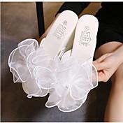 MujerSuelas con luz-Zapatos de taco bajo y Slip-Ons-Informal-PU-Blanco Negro