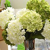 1 Větev Hedvábí Hortenzie Umělé květiny