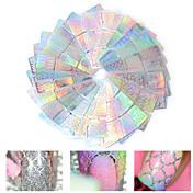 Laser hule søm kunst 3d klistermærker makeup kosmetiske søm kunst design 12stk (tilfældig farve)