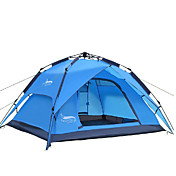 DesertFox® 3 a 4 Personas Tienda Doble Carpa para camping Tienda de Campaña Automática Impermeable Resistente a la lluvia 2000-3000 mm
