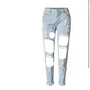 レディース ストリートファッション パンク&ゴシック ミッドライズ スリム ジーンズ パンツ ゼブラプリント