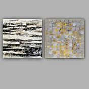 手描きの 抽象画 四角形,Modern クラシック 2枚 キャンバス ハング塗装油絵 For ホームデコレーション