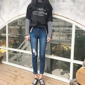 レディース セクシー ストリートファッション ミッドライズ スリム マイクロ弾性 ジーンズ パンツ ゼブラプリント