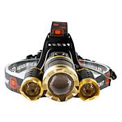 ヘッドランプ LED 4800 lumens ルーメン 4.0 モード Cree T6 電池は含まれていません 焦点調整可 耐衝撃性 充電式 防水 ストライクベゼル 小型 緊急 ナイトビジョン スーパーライト ハイパワー ズーム可能 のために