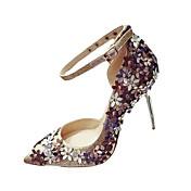 Mujer Tacones Confort Suelas con luz Zapatos del club PU Primavera Verano Otoño Casual Vestido PaseoConfort Suelas con luz Zapatos del