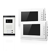 CMOSカメラのエントリを持つ2つの家族のナイトビジョン2台のモニターのアパートのための7インチTFT LCDスクリーンのビデオドア電話