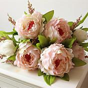 1Piece / Set 1 Rama Plástico Peonías Flor de Mesa Flores Artificiales