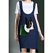 レディース カジュアル/普段着 夏 Tシャツ(21) ドレス スーツ,シンプル ラウンドネック ゼブラプリント 半袖 マイクロエラスティック