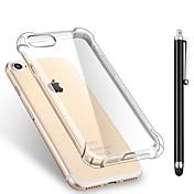 Para iPhone X iPhone 8 iPhone 8 Plus Carcasa Funda Antigolpes Transparente Cubierta Trasera Funda Color sólido Suave TPU para Apple
