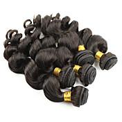 人間の髪編む ペルービアンヘア ウェーブ 6ヶ月 1個 ヘア織り