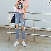 レディース キュート シンプル ストリートファッション ハイライズ ストレート マイクロエラスティック ジーンズ パンツ ゼブラプリント