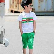 男の子 ストラップ柄 スポーツ カラーブロック セット 夏 半袖 アンサンブル
