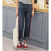 Mujer Sencillo Tiro Medio Microelástico Shorts Pantalones,Delgado Un Color