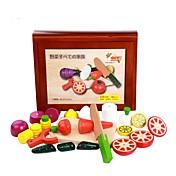 Juegos de Rol Modelo de presentación Puzles y juguetes de lógica Verduras Agarre práctico Madera Niños
