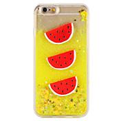 ケースアップルのiPhone 7 7プラス流れる液体のパターンの果物の光り輝く輝きのあるハードpc 6sプラス6プラス6s 6