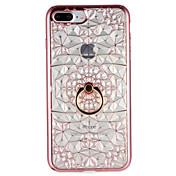 Para Carcasa Funda Soporte para Anillo Cubierta Trasera Funda Diseño Geométrico Suave TPU para AppleiPhone 7 Plus iPhone 7 iPhone 6s Plus
