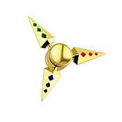 Fidget spinners Hilandero de mano Peonza Juguetes Juguetes Spinner de anillo Spinner de engranajes Metal aluminio EDCAlivio del estrés y