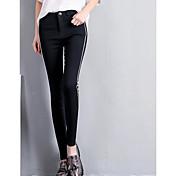 レディース ストリートファッション ミッドライズ ルーズ マイクロエラスティック 活発的 パンツ カラーブロック