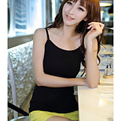 Mujer Sexy Casual/Diario Tank Tops,Con Tirantes Un Color Sin Mangas Algodón