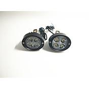 電気自動車スポットライトオートバイ超明るいledヘッドランプリアビューミラー12v24v変更された外部電球のペア