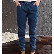 Mujer Sencillo Tiro Medio Microelástico Delgado Pantalones,Delgado Un Color