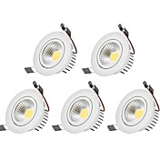 LEDダウンライト 温白色 クールホワイト LED 5個