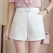Mujer Sencillo Alta cintura Inelástica Corte Ancho Pantalones,Línea A Simple