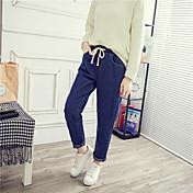 Mujer Adorable Sencillo Alta cintura strenchy Corte Ancho Vaqueros Pantalones,Corte Ancho Corte Recto Un Color Vaqueros