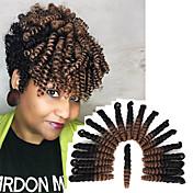 Tranças Crochet pré-laço Glamoroso & Dramático Casamento Europeu Estilo Europeu 100% cabelo kanekalon fibra sintéticaPreto / louro da