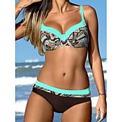 Mujer Bandeau Bikini Floral Estampado
