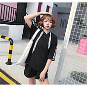 Mujer Tallas Grandes Sudadera Casual Casual Un Color Color puro strenchy Algodón Media Manga Verano