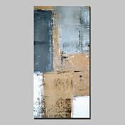 Pintada a mano Abstracto Vertical,Abstracto Modern Un Panel Lienzos Pintura al óleo pintada a colgar For Decoración hogareña