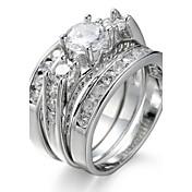 Dámské Typ kamene Široké prsteny Prsten Kubický zirkon imitace drahokamuZákladní design Kruhy Jedinečný design Geometrický minimalistický