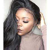 Mujer Pelucas de Cabello Natural Cabello humano Encaje Frontal 130% Densidad Liso Peluca Negro Corto Medio Largo Entradas Naturales Para