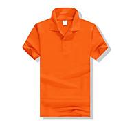 メンズ スポーツ Polo,シンプル シャツカラー ソリッド ポリエステル 半袖