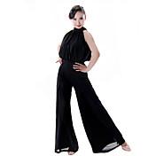 ラテンダンス 女性用 ダンスパフォーマンス チュール プロミックス 1個 ローウエスト パンツ