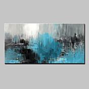 Pintada a mano Abstracto Horizontal,Abstracto Modern Un Panel Lienzos Pintura al óleo pintada a colgar For Decoración hogareña